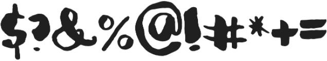 Organic Hand Regular otf (400) Font OTHER CHARS