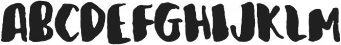 Organic Hand Regular otf (400) Font UPPERCASE
