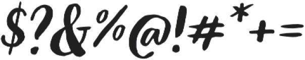Organika Script Italic otf (400) Font OTHER CHARS