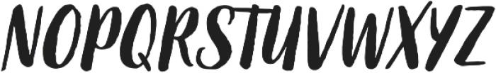 Organika Script Italic otf (400) Font UPPERCASE