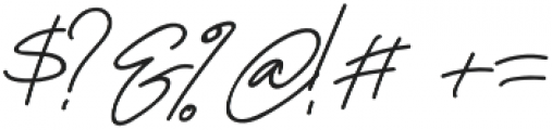 Orlando Signature otf (400) Font OTHER CHARS