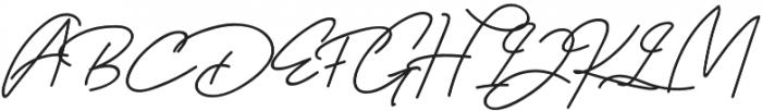 Orlando Signature otf (400) Font UPPERCASE