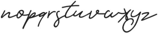 Orlando Signature otf (400) Font LOWERCASE