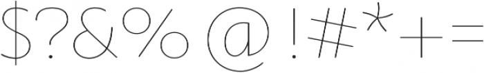 Orqquidea-Sans Thin otf (100) Font OTHER CHARS
