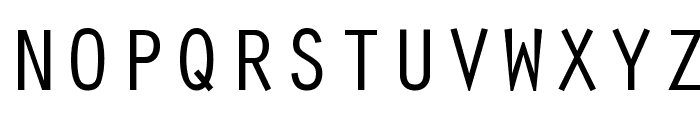 Oracle Regular Font UPPERCASE
