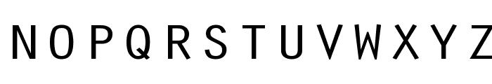 Oracle Regular Font LOWERCASE