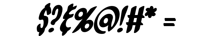 Orange Fizz Italic Font OTHER CHARS