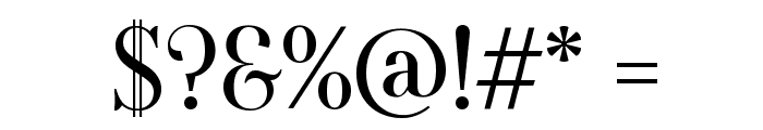Oranienbaum Font OTHER CHARS