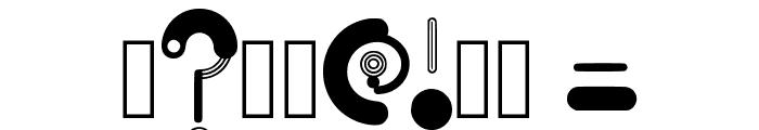 Orbit Regular Font OTHER CHARS
