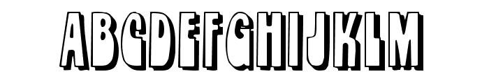 Orbit Shadow Font UPPERCASE