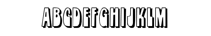 Orbit Shadow Font LOWERCASE