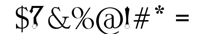 Orbital Sling Font OTHER CHARS