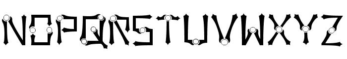 Orbital Sling Font UPPERCASE