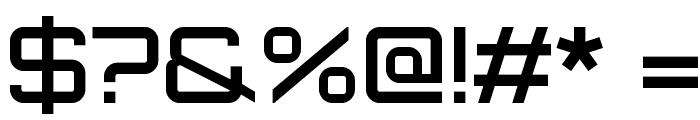 Orbitron Medium Font OTHER CHARS