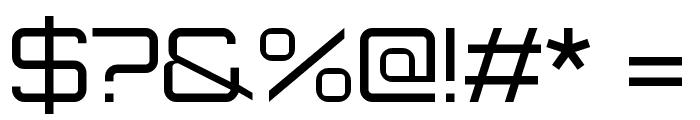 Orbitron Regular Font OTHER CHARS
