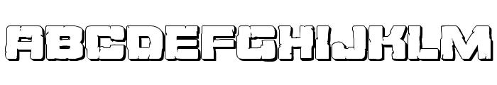 Ore Crusher 3D Regular Font UPPERCASE
