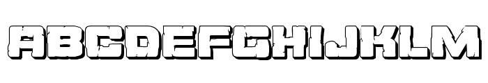 Ore Crusher 3D Regular Font LOWERCASE