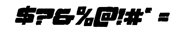Ore Crusher Bold Italic Font OTHER CHARS