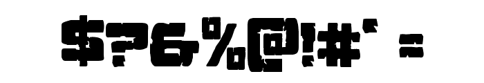 Ore Crusher Condensed Font OTHER CHARS