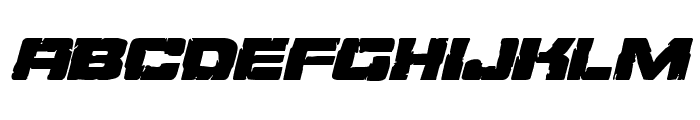 Ore Crusher Expanded Italic Font LOWERCASE