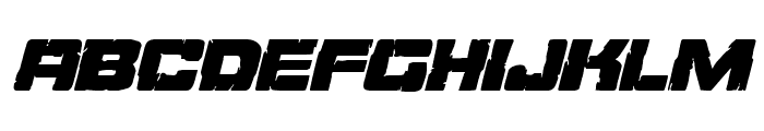 Ore Crusher Italic Font LOWERCASE