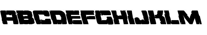 Ore Crusher Leftalic Font LOWERCASE