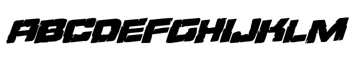 Ore Crusher Regular Rotalic Font UPPERCASE