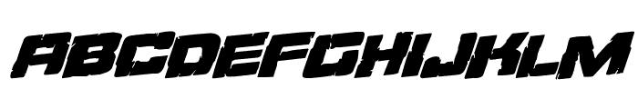 Ore Crusher Regular Rotalic Font LOWERCASE