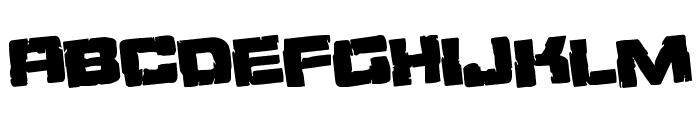 Ore Crusher Regular Rotate Font UPPERCASE