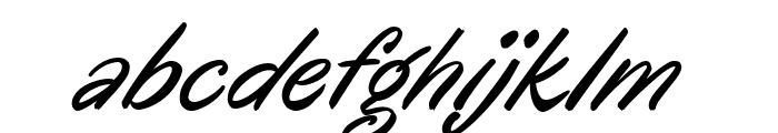 Oregano Italic Font LOWERCASE