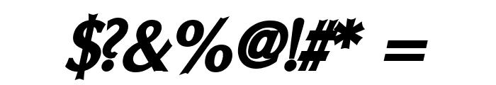 Oregon LDO Black Oblique Font OTHER CHARS