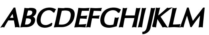 Oregon LDO Black Oblique Font UPPERCASE