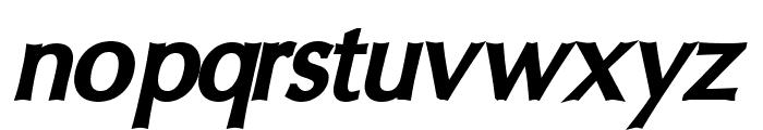 Oregon LDO Black Oblique Font LOWERCASE