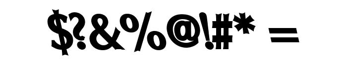 Oregon LDO Black Sinistral Font OTHER CHARS
