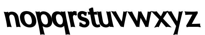 Oregon LDO Black Sinistral Font LOWERCASE