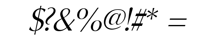 Oregon LDO Book Oblique Font OTHER CHARS