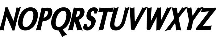 Oregon LDO Condensed Black Oblique Font UPPERCASE