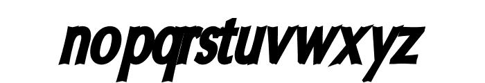 Oregon LDO Condensed Black Oblique Font LOWERCASE