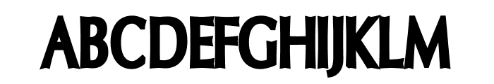 Oregon LDO Condensed Black Font UPPERCASE