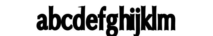 Oregon LDO Condensed Black Font LOWERCASE