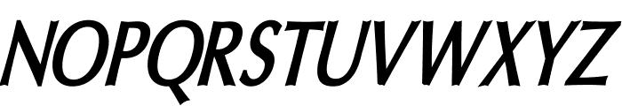 Oregon LDO Condensed Bold Oblique Font UPPERCASE