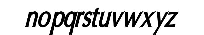 Oregon LDO Condensed Bold Oblique Font LOWERCASE