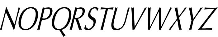 Oregon LDO Condensed Oblique Font UPPERCASE