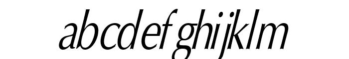 Oregon LDO Condensed Oblique Font LOWERCASE
