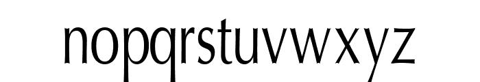 Oregon LDO Condensed Font LOWERCASE