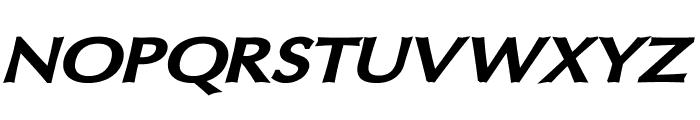 Oregon LDO Extended Black Oblique Font UPPERCASE