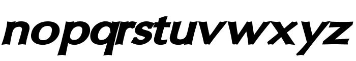 Oregon LDO Extended Black Oblique Font LOWERCASE