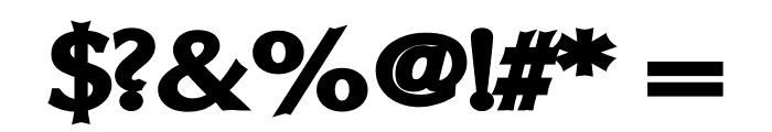 Oregon LDO Extended Black Font OTHER CHARS