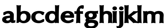 Oregon LDO Extended Black Font LOWERCASE