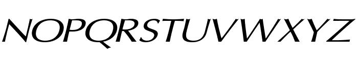 Oregon LDO Extended Oblique Font UPPERCASE